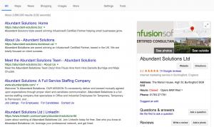 Google Review Abundant Solutions